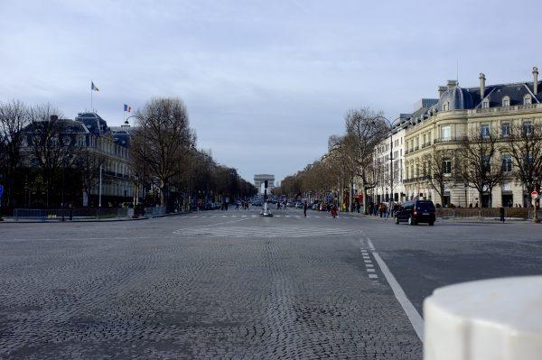 wandelen naar parijs